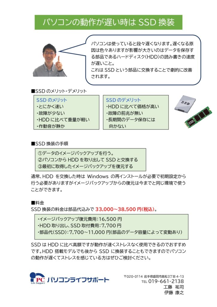 SSD交換説明